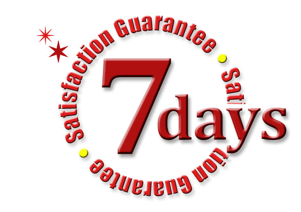 7-days Satisfaction Warranty for product purchase from us