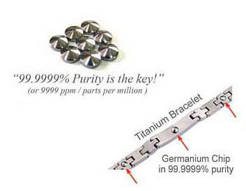 image of Germanium with 99.9999% purity uniquely cut to A-top shape for maximun strength