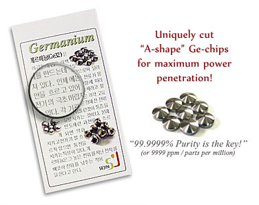 Germanium Titanium Bracelet that come with a korean language certificate with 99.9999ppm purity