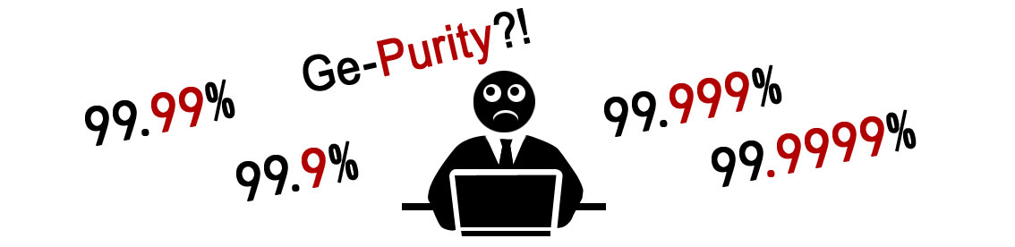 what is 99.9999% Germanium purity mean and how you read them