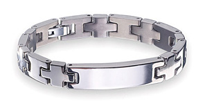 99.9999% purity Germanium Chip mounted on Titanium Germanium Bracelet