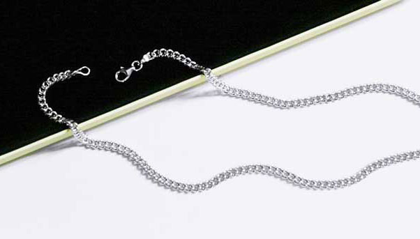55cm 99.9999% Purity Germanium Silver Necklace with 9.25 Silver from Korea